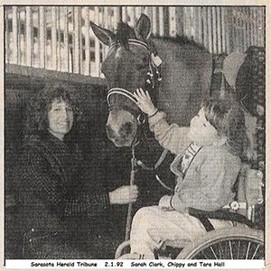 Sarah Clark & Tara 1992